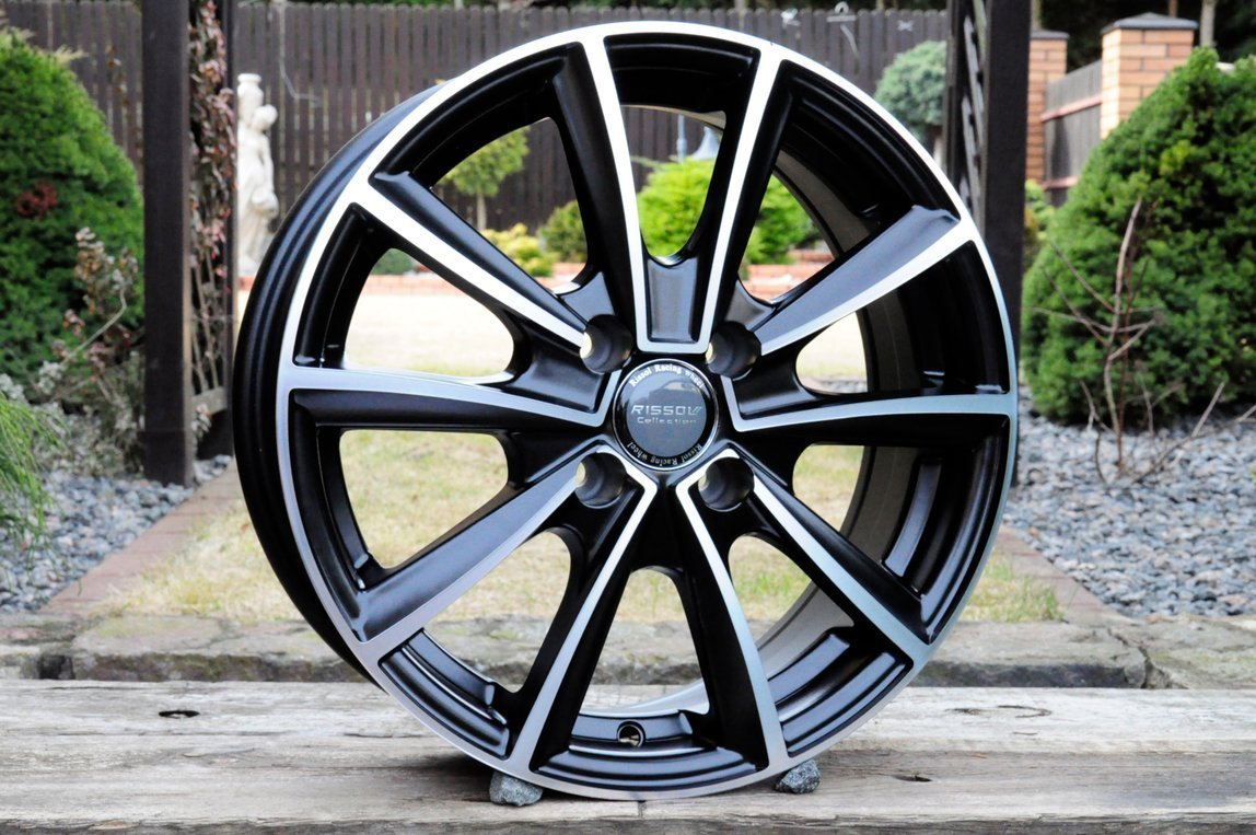"NEW ALLOYS 13"" 4X100 OPEL RENAULT Polished"