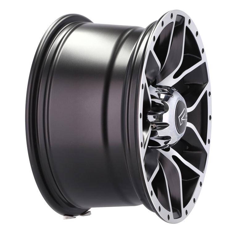 RACING LINE RBK5307 hliníkové disky 8x15 5x139,7 ET0 MBHM - Polished + Black Half Matt